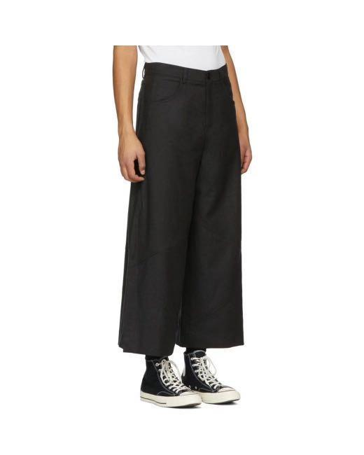 3039 Vintage - 手工訂製寬管垂料西裝褲