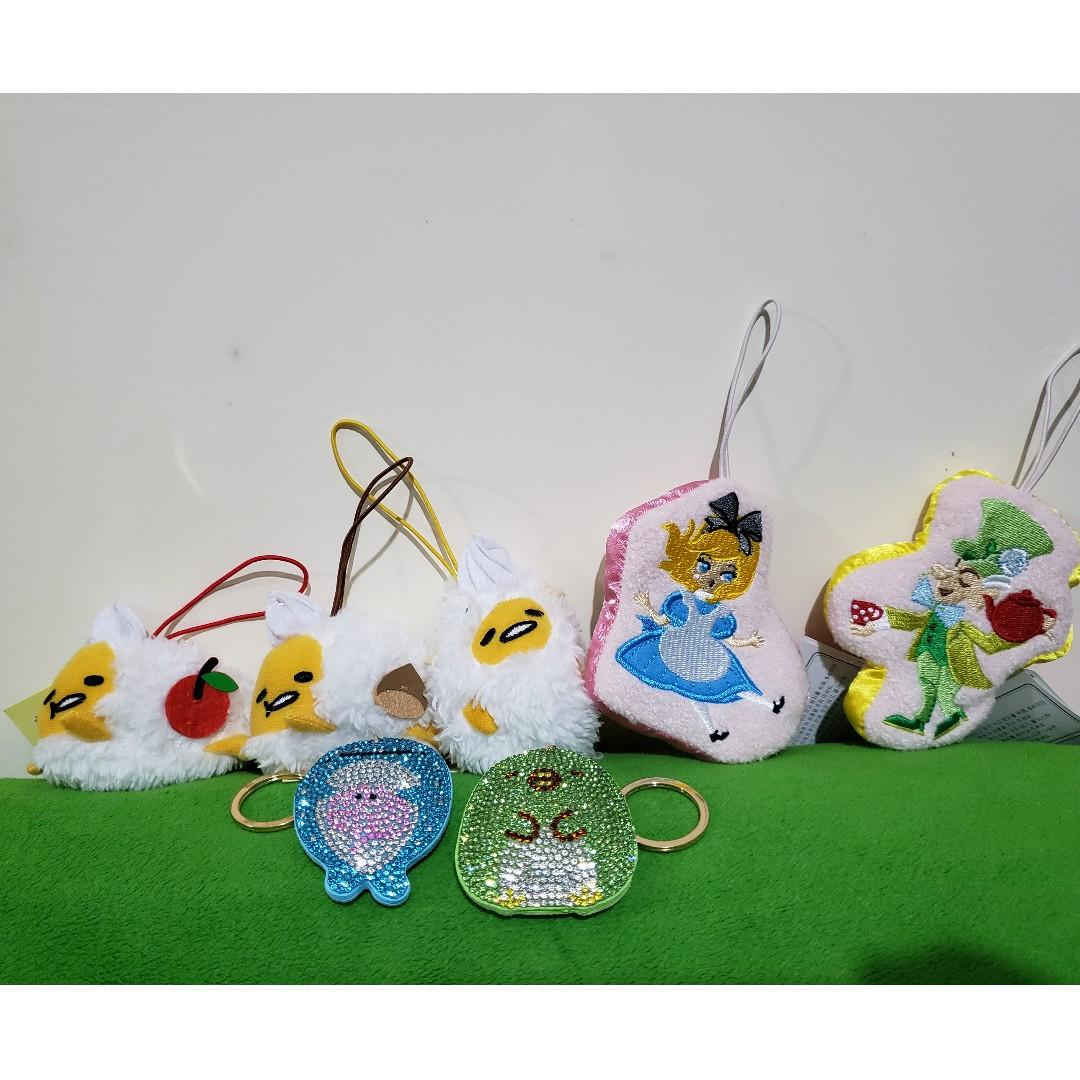蛋黃哥/細公仔面包/角落生物掛飾