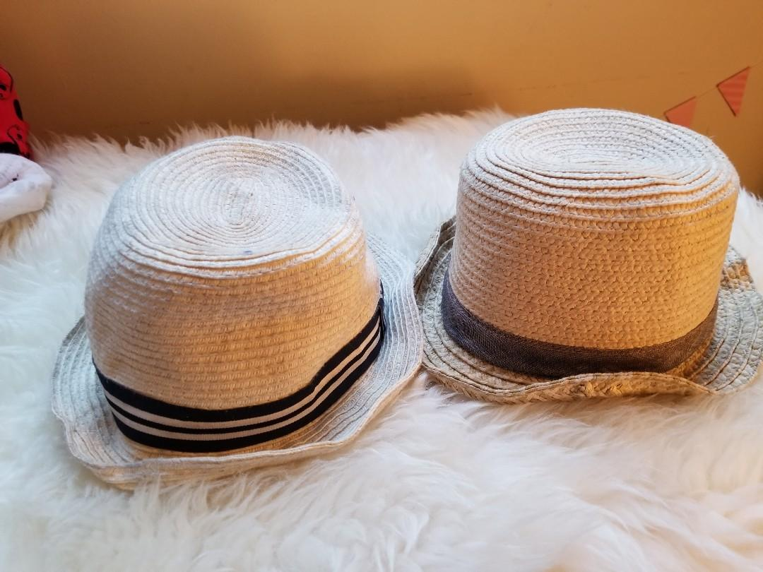 Baby Gap sun hats size 2-4 mths. $5 H&M sun hat size 2-4mths. $3 Take both for $6. Pick up 20 bay or Gerrard and main  or Yorkville for $1 more.