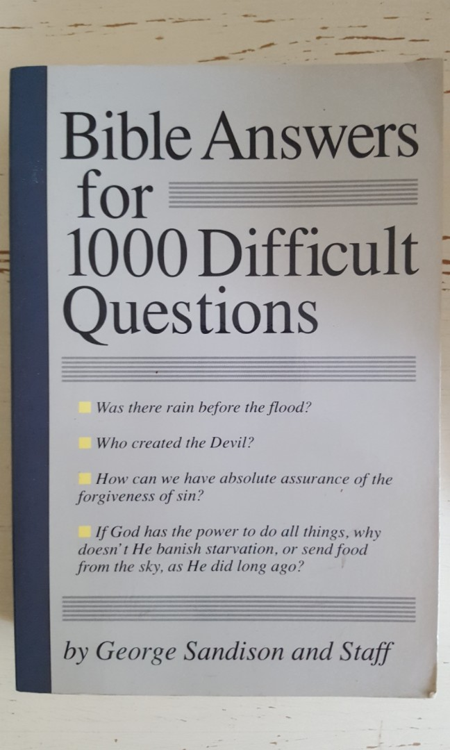 Bible Answers For 1000 Difficult Questions By George Sandison
