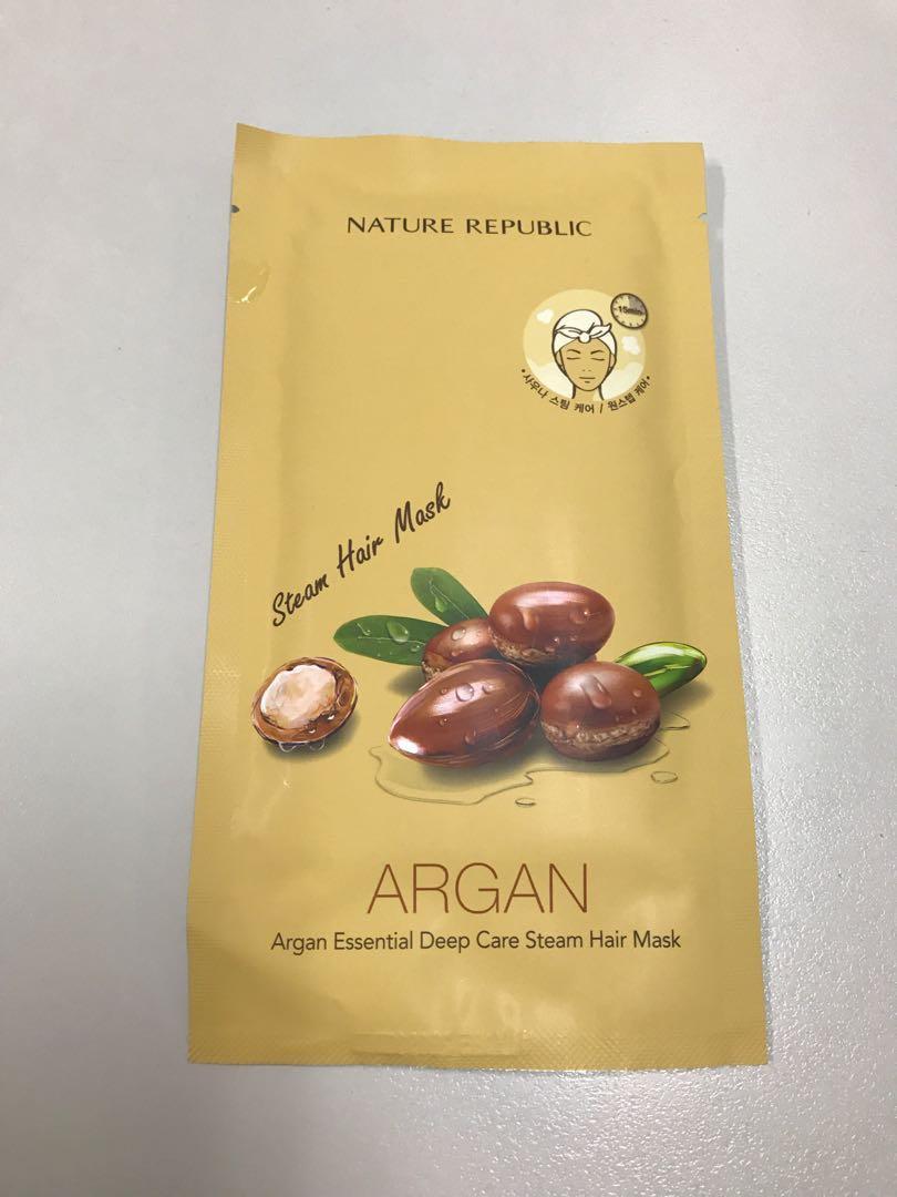 BN Nature Republic Argan essential deep care steam hair mask
