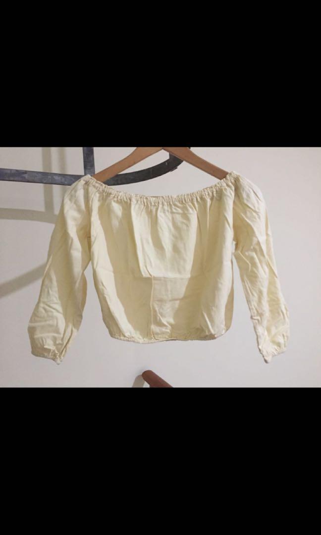 BNWOT Brandy Melville Pastel Yellow Maura Top