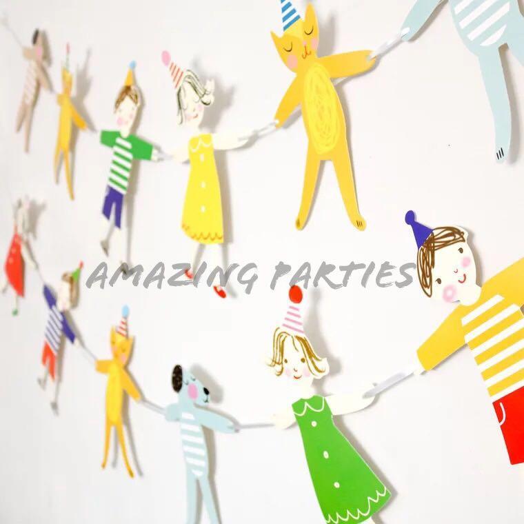 Children Party Paper Bunting Decoration #MRTCCK #MRTWoodlands #MRTJurongEast