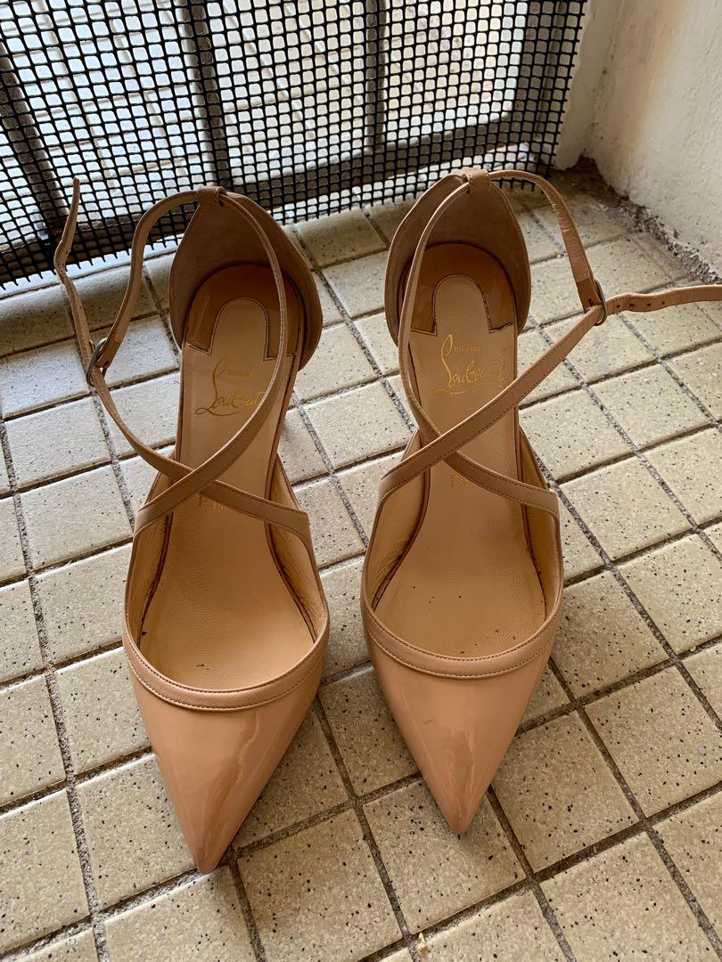 super popular 196fa aca2c Christian louboutin strappy heels