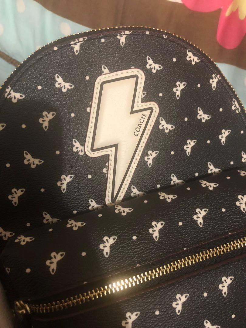 COACH Mini Charlie Backpack in butterfly bandana ⚡️