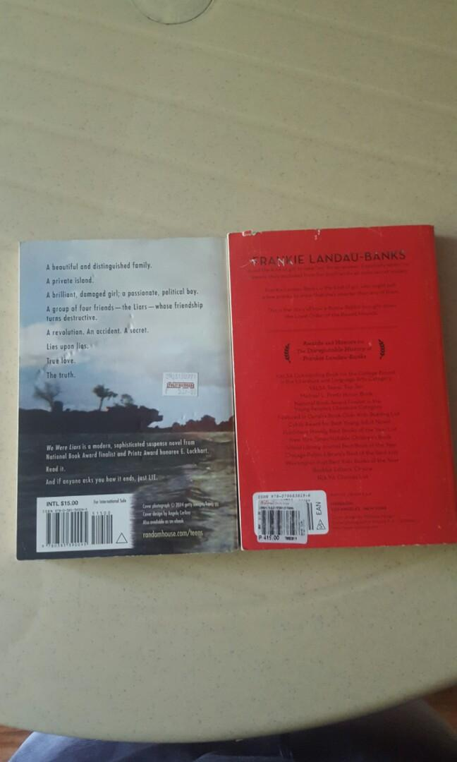 E.Lockhart Novels: We Were Liars and Disreputable History of Frankie Landau-Banks