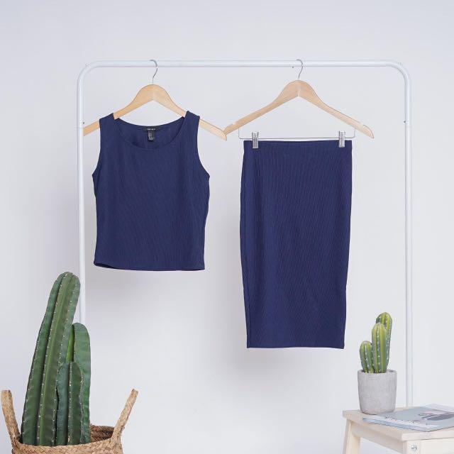 Forever 21 Navy Blue Setdress
