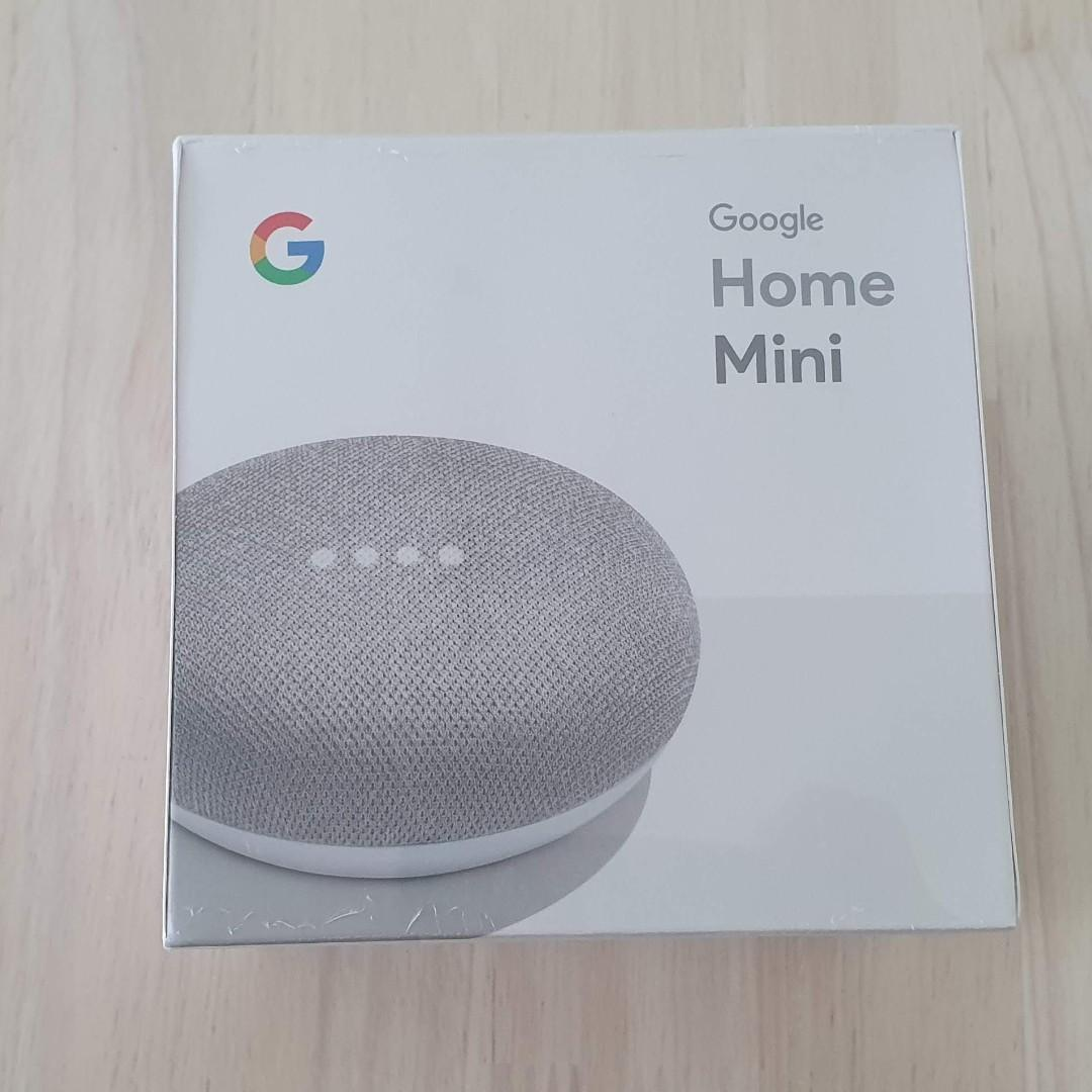 Google Home Mini Chalk Genuine Authentic NEW Sealed