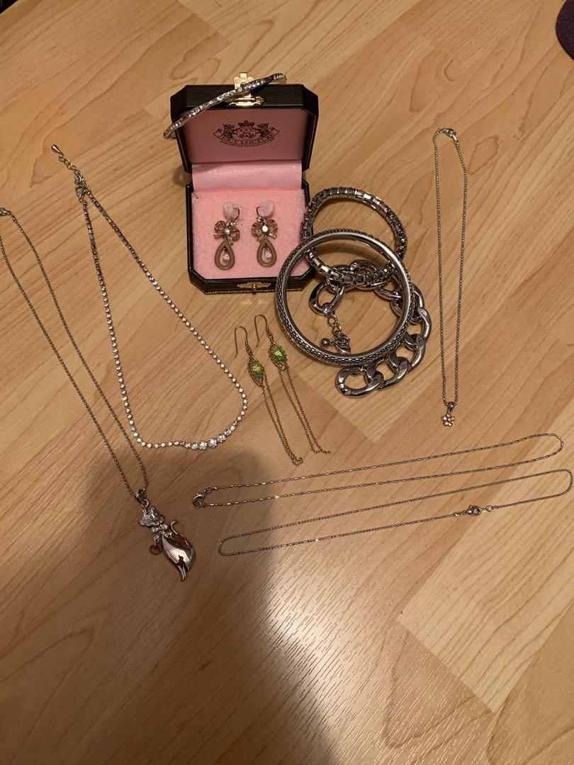 Juicy Couture & Swarovski Necklaces/Earrings/Bracelets