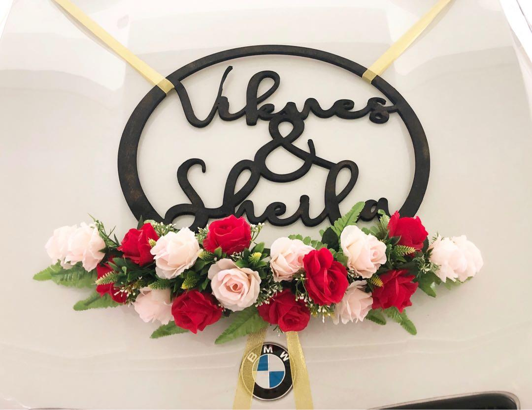 [KarftWerks EXQUISITE Package] Wedding/Bridal Car Flower Decoration ~ Wedding/Bridal Car Flower Deco