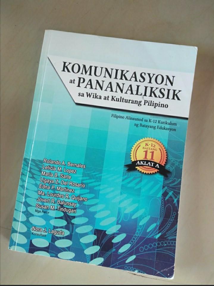 Komunikasyon at Pananaliksik sa Wika at Kulturang Pilipino PagPag (Grade 11 Book)