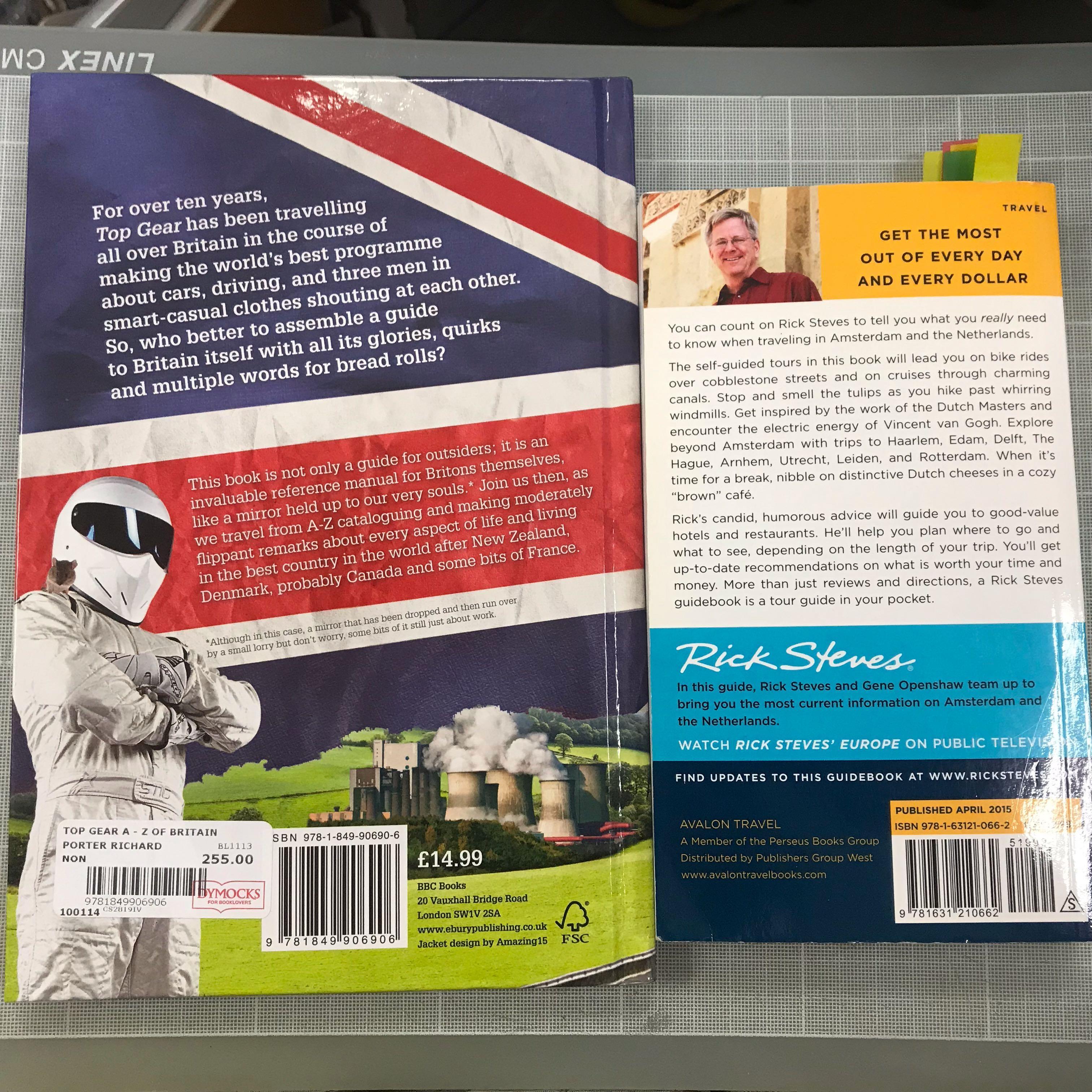 Like New Travel Books - Britain & The Netherlands 英國和荷蘭旅遊書