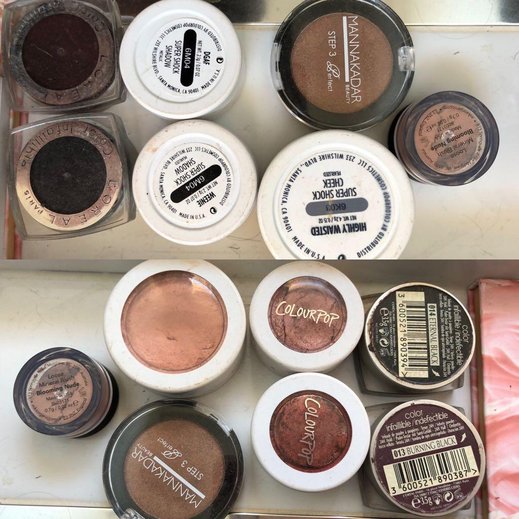 Mecca Too Faced Colourpop various makeup eyeshadows #swapAU
