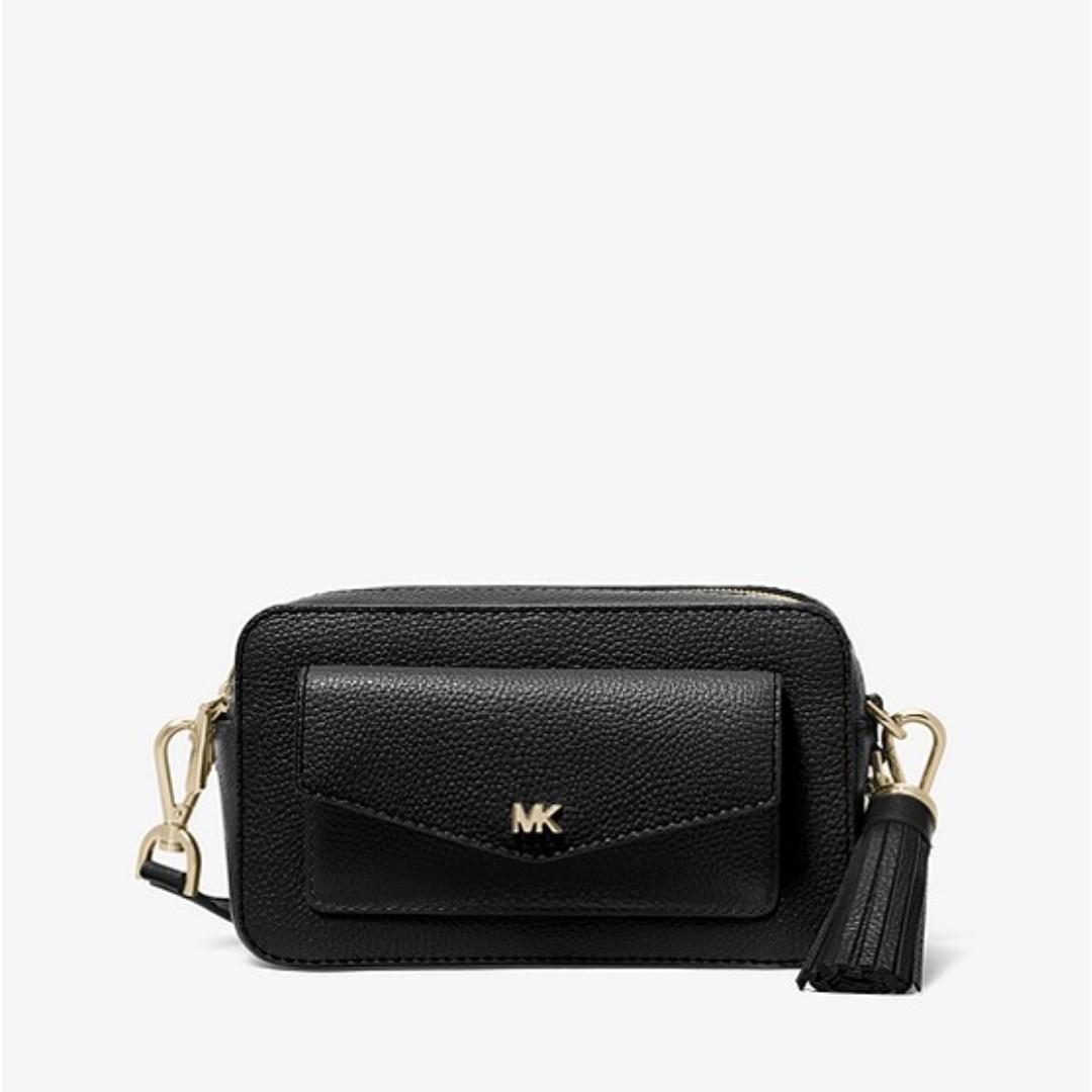 1f16e8f3703 PO] Small Pebbled Leather Camera Bag (Black), Women's Fashion, Bags ...