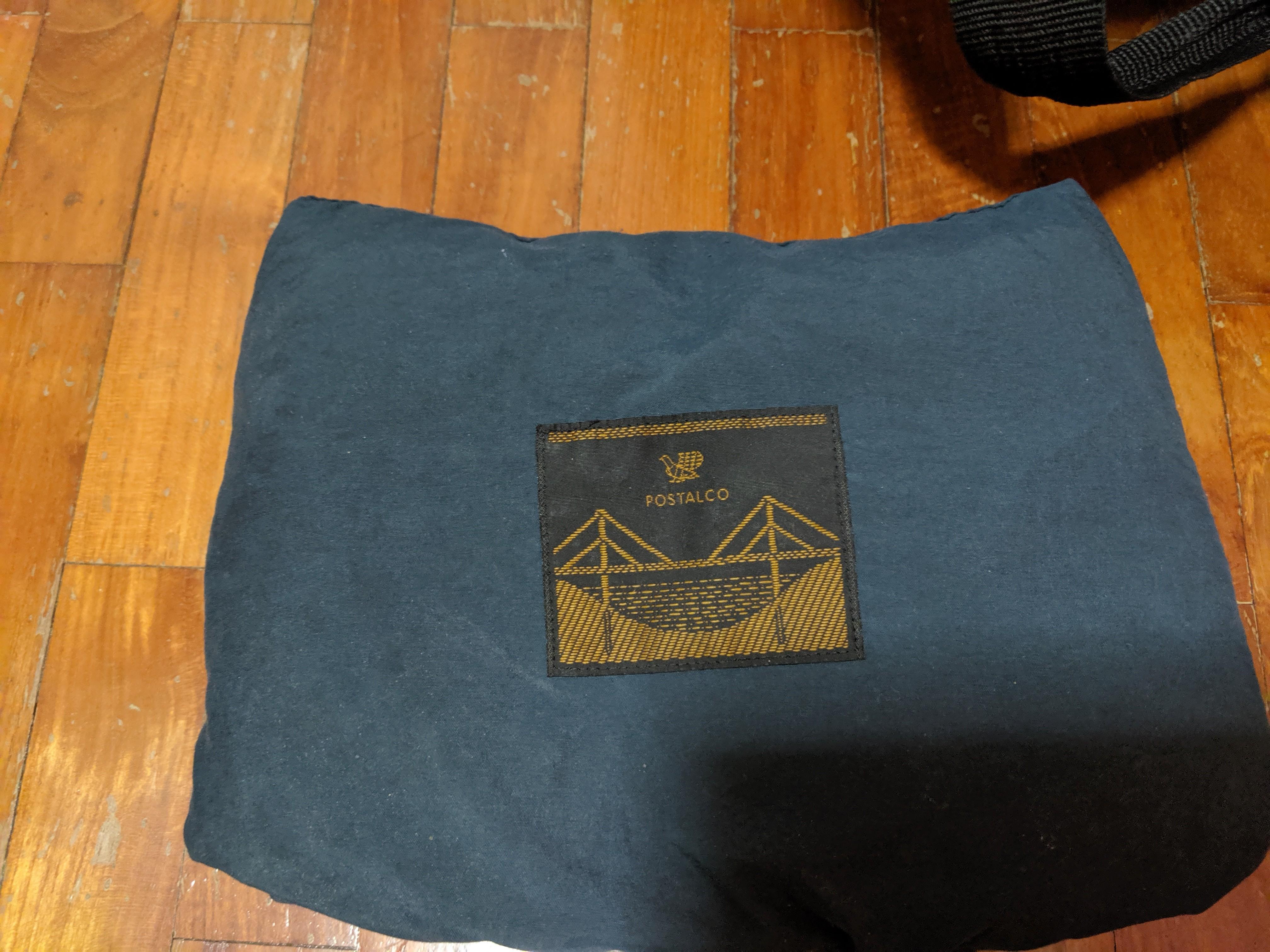 Postalco nylon fabric poncho- navy blue