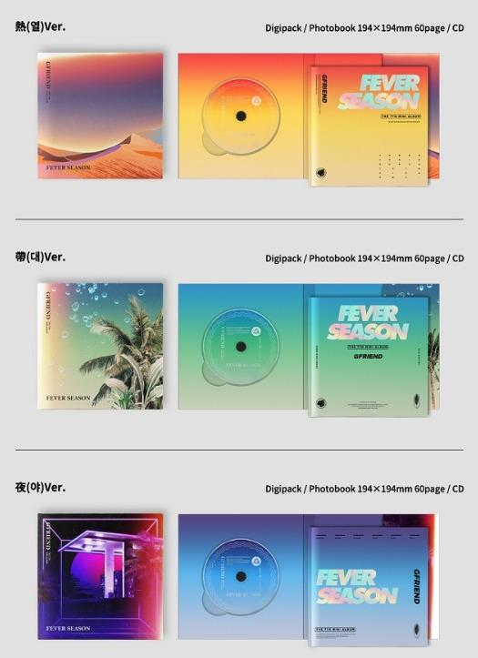 [Pre-order] GFRIEND 여자친구 (7TH MINI ALBUM 미니앨범) - FEVER SEASON (热 ver. || 带 ver. || 夜 ver.)