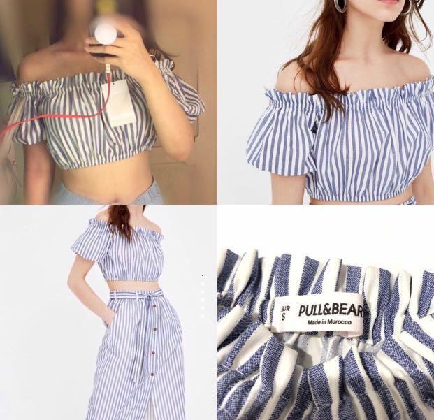 Pull&bear off shoulder top
