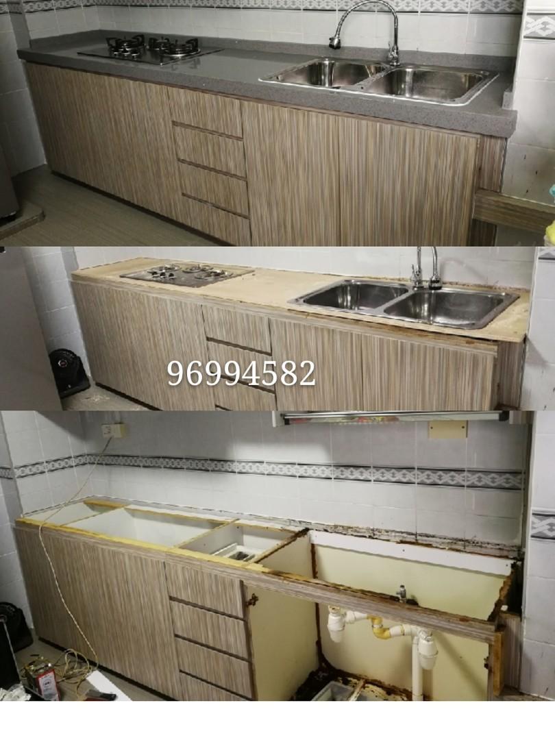 Repair furniture and cabinet