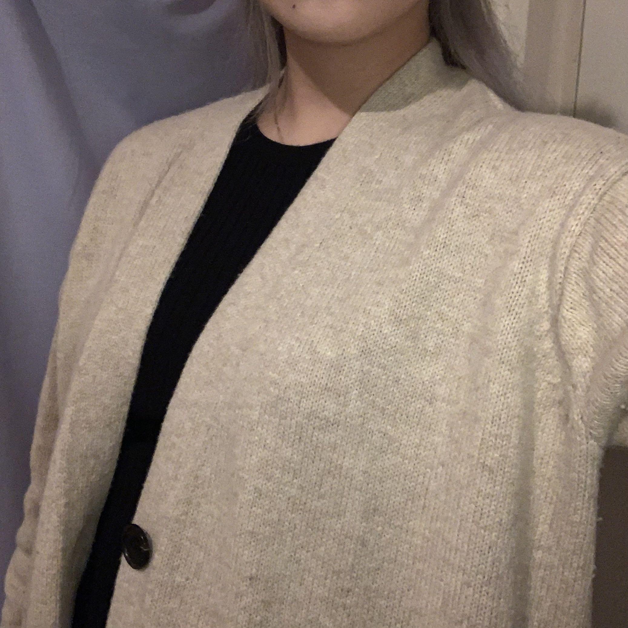 uniqlo beige long cardigan