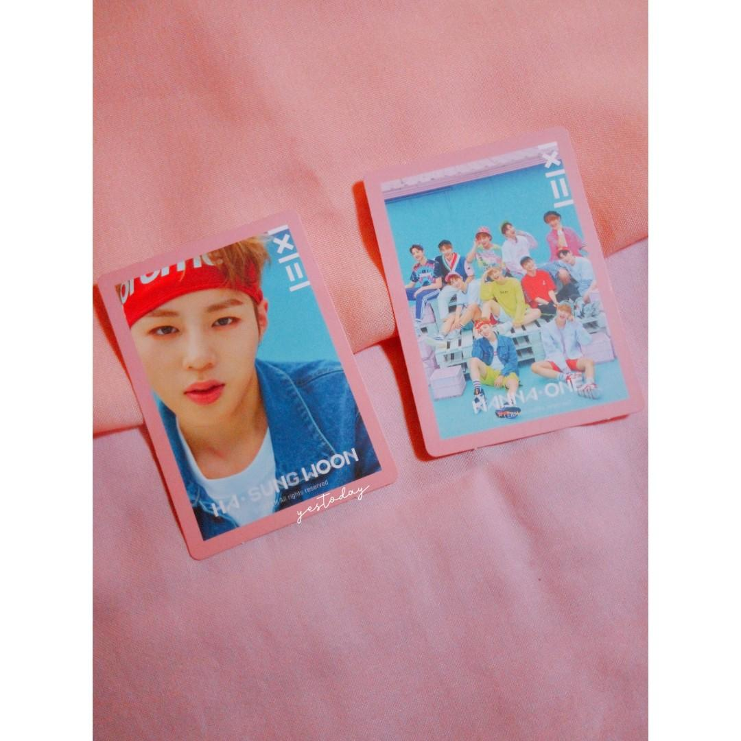 WANNAONE SUNGWOON + GRUP PHOTOCARD PC ALBUM TO BE ONE