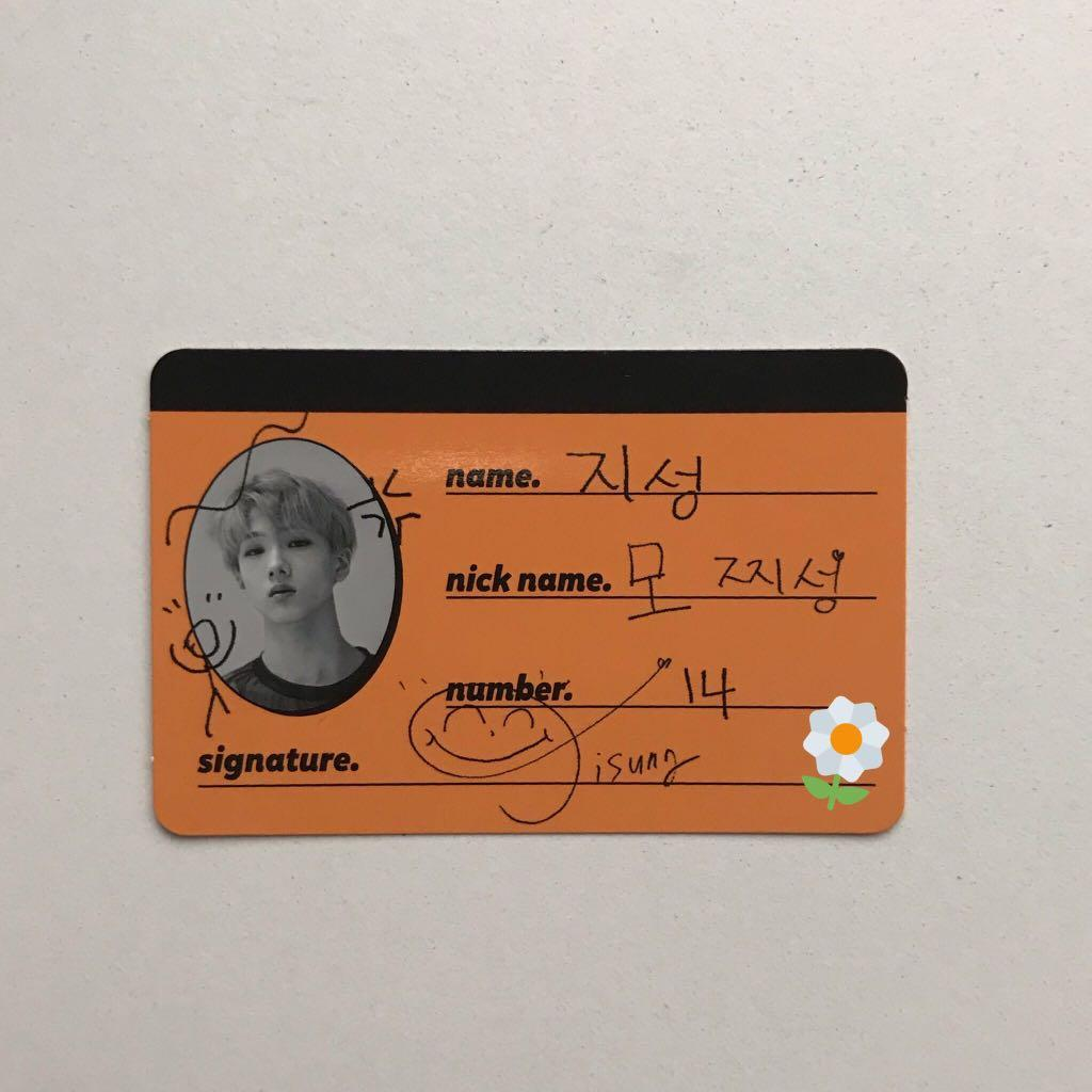 WTS JISUNG CREW CARD CC OFFICIAL We Go Up