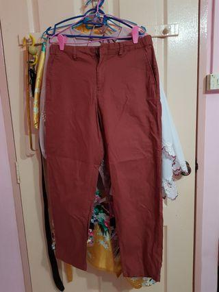 RED WOMEN Cotton Linen Relaxed Pants