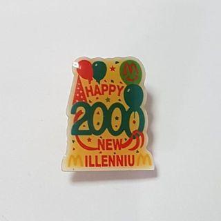 Happy 2000 New Millennium, McDonald's Singapore Pin