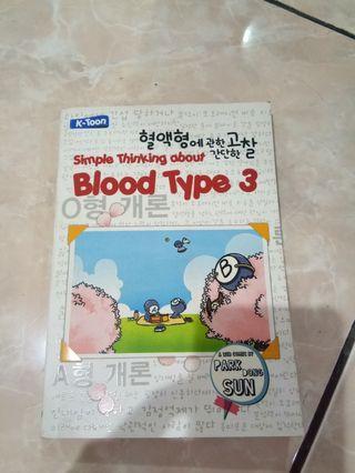 Buku Simple Thinking about Blood Type 3