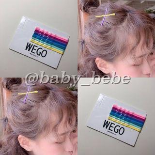 🚚 全新正品|wego 彩虹 一字髮夾 日本帶回 十色一組  #CarousellxCasetify