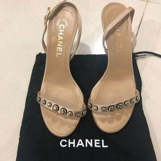 Chanel strappy heels size 36 only with dustbag