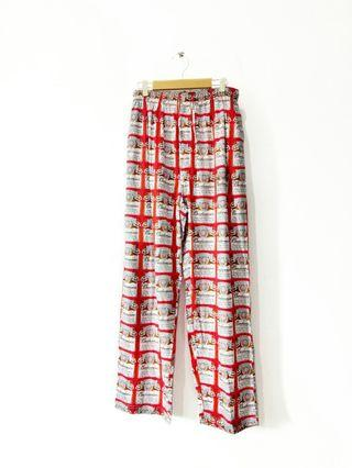 Vintage Budweiser Cotton Pants Official Merchandise