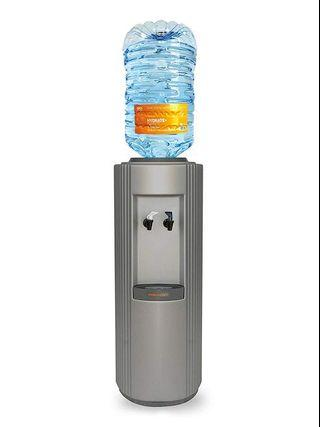 The Core Bottled Water Cooler Dispenser by Hydrate Direct | Floor Standing Water Machine, Easy to Clean & Maintain. Perfect for Home and Office, Dispenses Ambient & Chilled Water– Grey/Silver