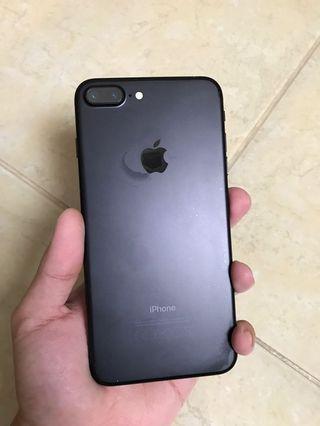 iPhone 7 plus Matte Black 128Gb Fullset..