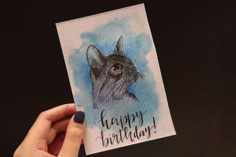 🚚 Water color birthday card