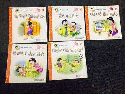 全部9本價:幼兒英文,little readers series level 2 bk 1-8, and fun books