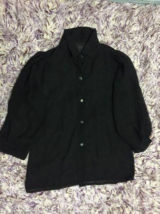 Black beach blouse