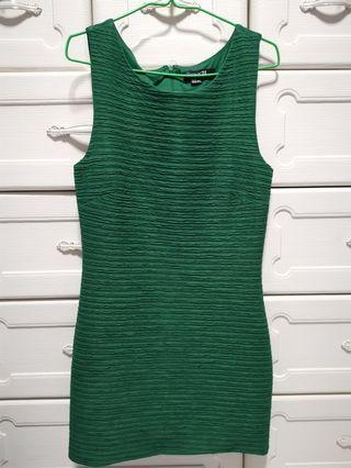 F21 Green textured dress