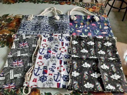 Drawstring Canvass Bag