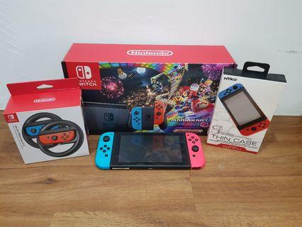 Nintendo Switch with Steering wheel