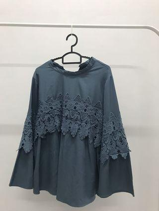 Blouse Flowery Lace