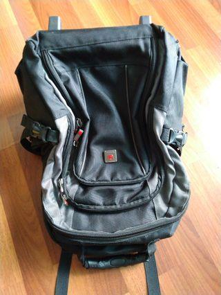 Backpack sama trolly wheel merek polo classic