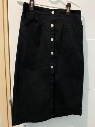 斯文裙黑色 Maple 橡膠腰