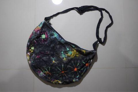 tie die sling bag rasta not stussy lbb