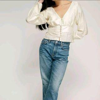 pretty off-white blouse
