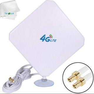 (2582) 4G LTE TS9 Antenne Dual Mimo 35dBi High Gain Network Ethernet Outdoor Antenne Signal Receiver Booster Amplifier for WiFi Router Mobile Broadband