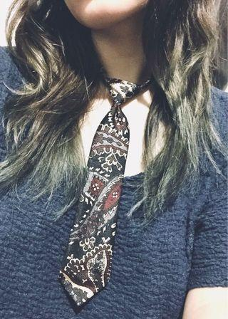 RARE FIND ⛩ Battle Royale Lolita Japanese Necktie - Punk Uniform Tie