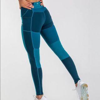 Gymshark Tone Block Blue Leggings