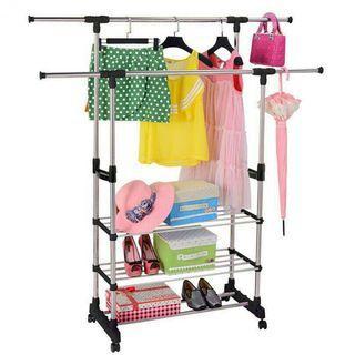 Cloth Hanger And Organizer Rack Wardrobe