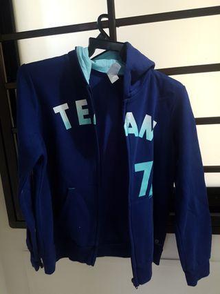 🚚 Blue Jacket + Hood