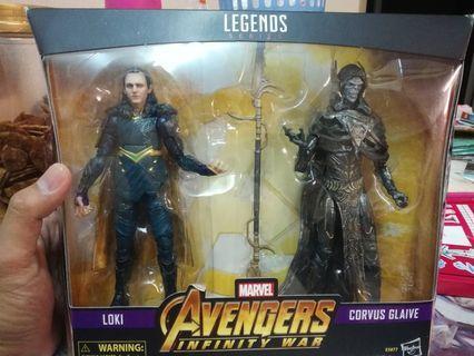 Marvel Legends Corvus Glaive & Loki